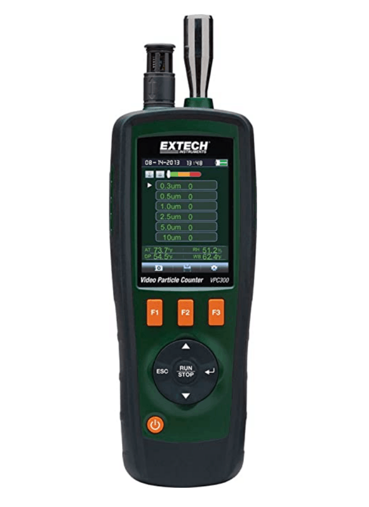 video laser particle counter